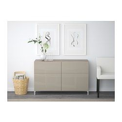 "IKEA - BESTÅ, Storage combination w doors/drawers, white/Valviken gray-turquoise, 47 1/4x15 3/4x29 1/8 "", drawer runner, soft-closing, , The drawers and doors close silently and softly, thanks to the integrated soft-closing function.The legs raise your BESTÅ combination from the floor, giving it a light airy look and making it easy to clean the floor underneath.Two drawers make it easy to keep your belongings organized. The shelves behind the doors give you even more storage space."