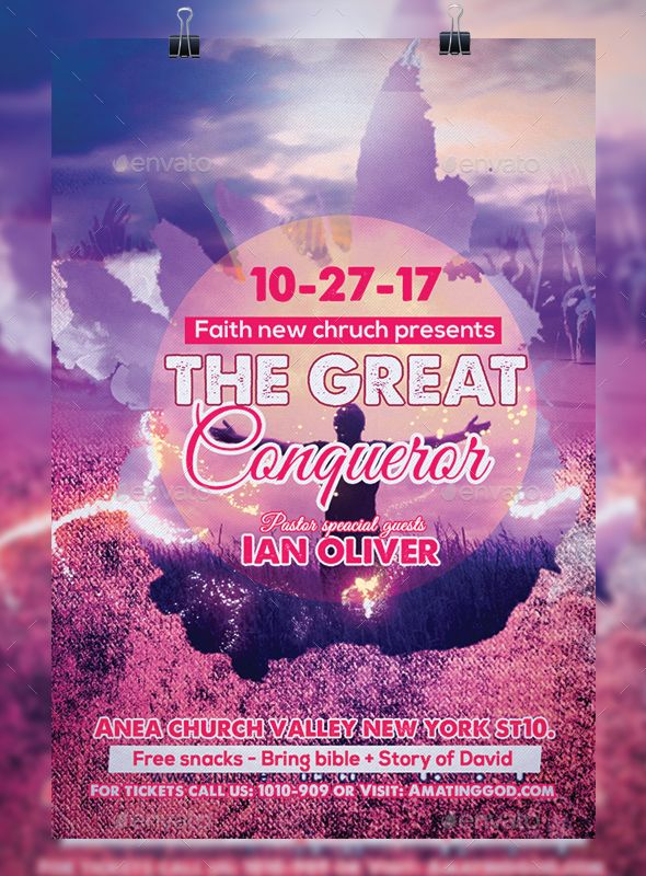 Great Conqueror Church Flyer  Churches Flyer Template And Fonts