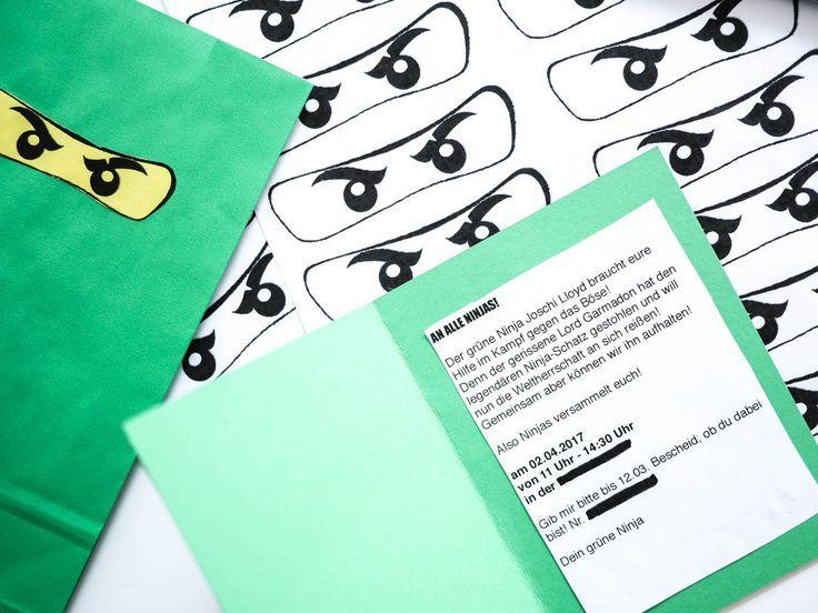 Lego Ninjago Einladungskarten
