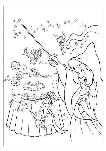 coloring pages of fairy godmother 39 s magic magical mouse pinterest fairy godmother and angel. Black Bedroom Furniture Sets. Home Design Ideas