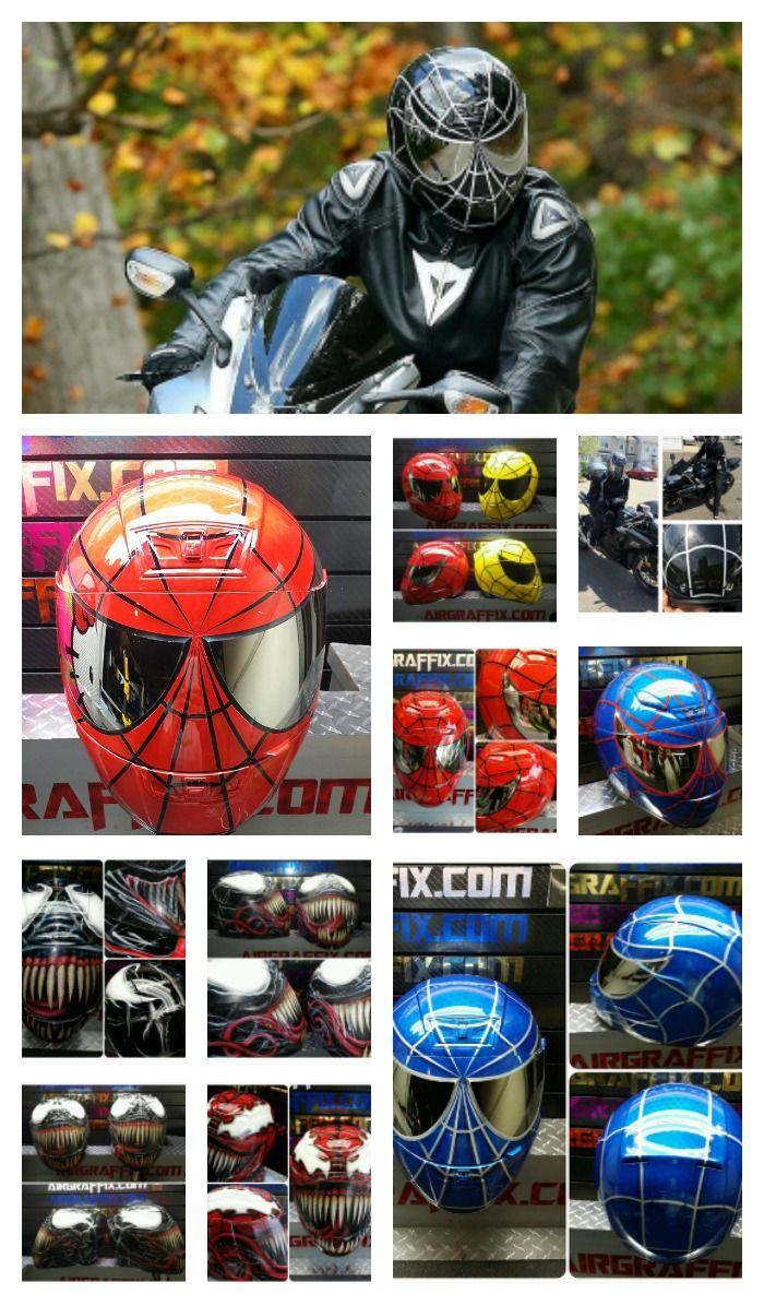 Spiderman motorcycle helmets motorcycle helmets with - Spider man moto ...