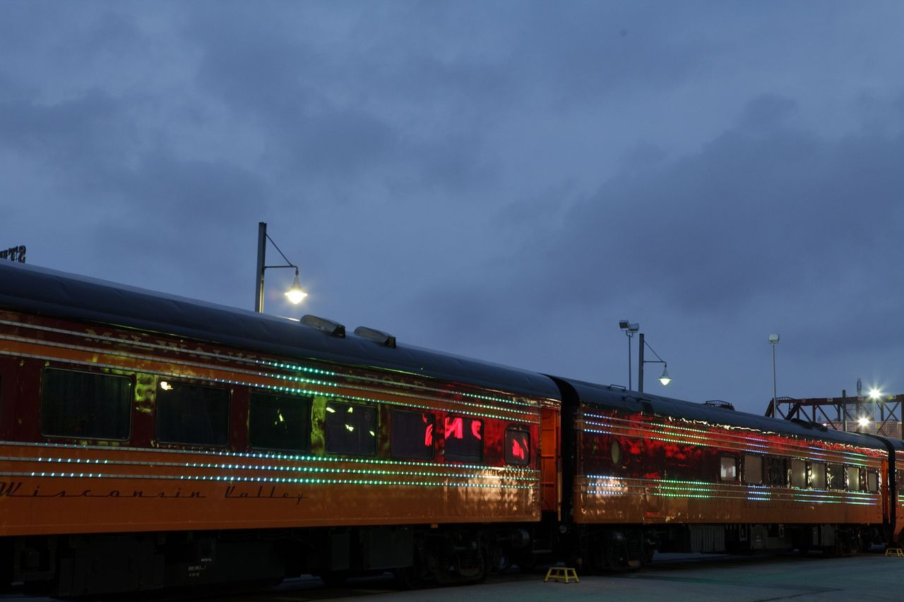 The Station to Station train at twilight in Kansas City. Photo by Ye Rin Mok.