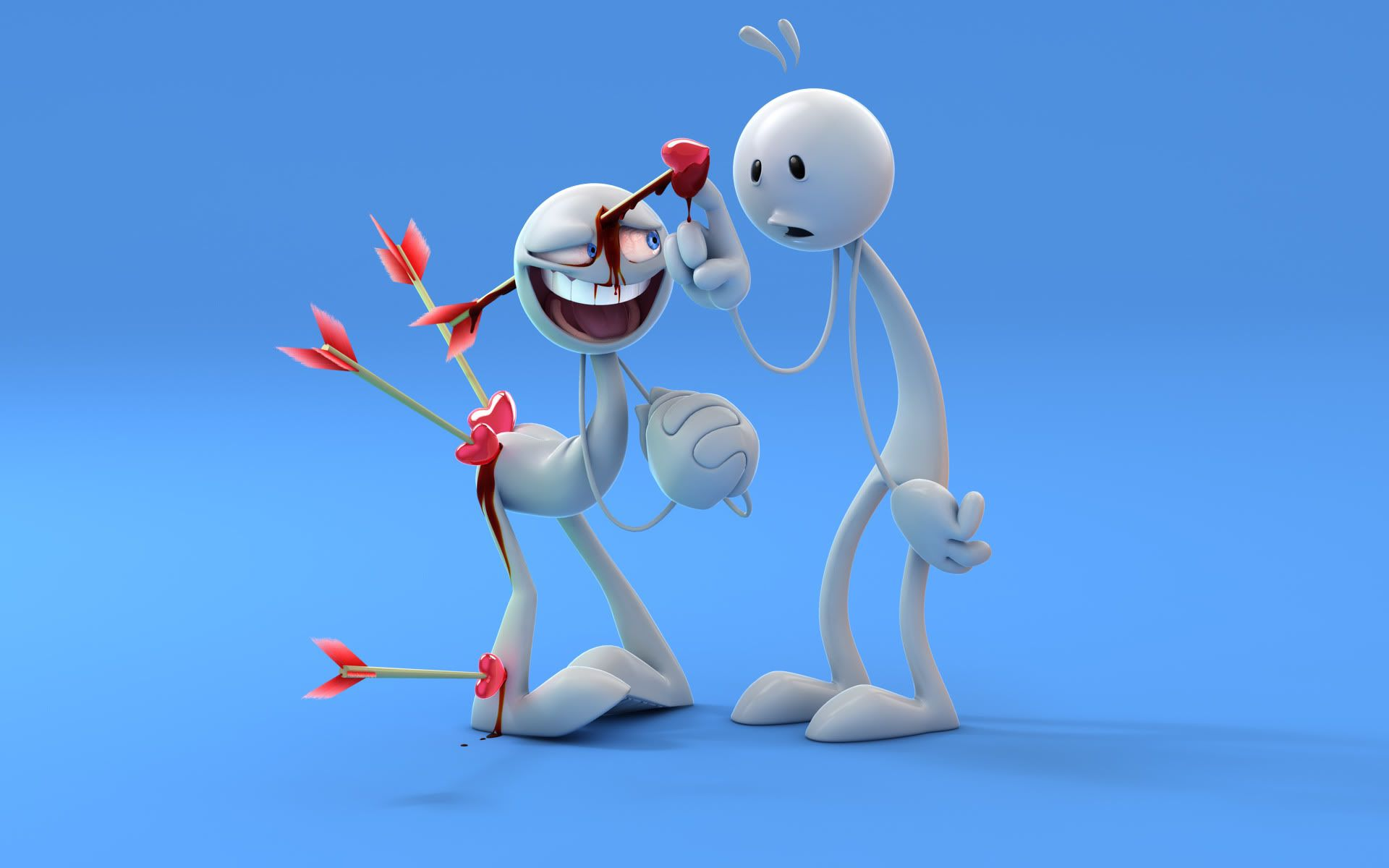 3d Wallpapers Of Funny Robots In Love