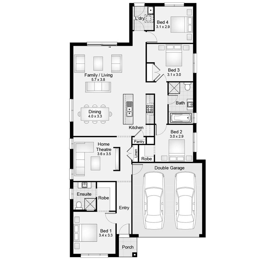 Sienna 20 || Floor Plan - 181.80sqm, 10.60m width, 20.00m depth ...