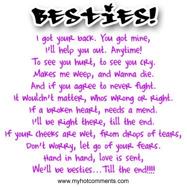 Besties Till The End Friend Poems Best Friend Poems Friends Quotes