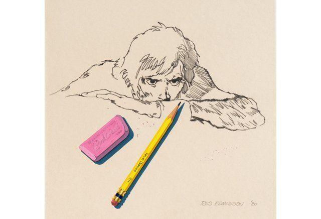 Self Portrait with Eraser, 1980