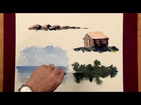Image result for cabin palette knife painting