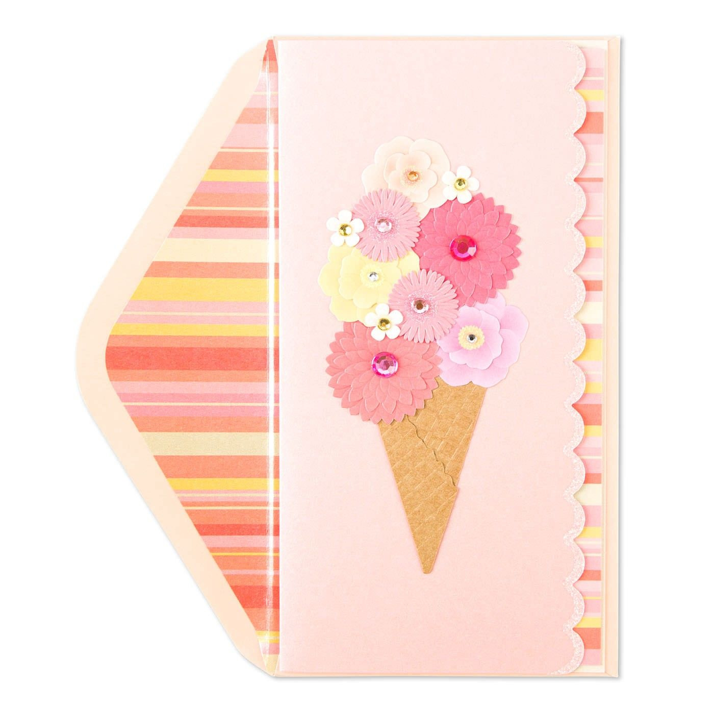 Taylor Swift Flower Ice Cream Cone Birthday Card Ice Cream Cones