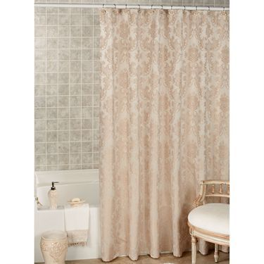 Bianca Champagne Damask Shower Curtain By J Queen New York