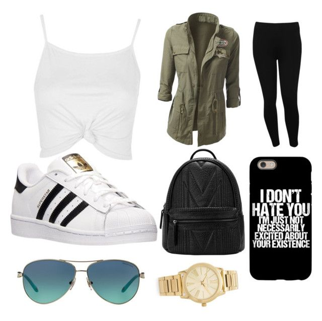 """""""Hurry up and leave"""" by obey-the-myla on Polyvore featuring Topshop, M&Co, adidas, Tiffany & Co. and Michael Kors"""