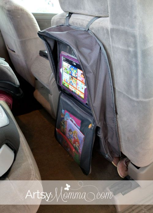 Car Seat Organizer with Tablet Viewer - Great for Road Trips! | Car ...