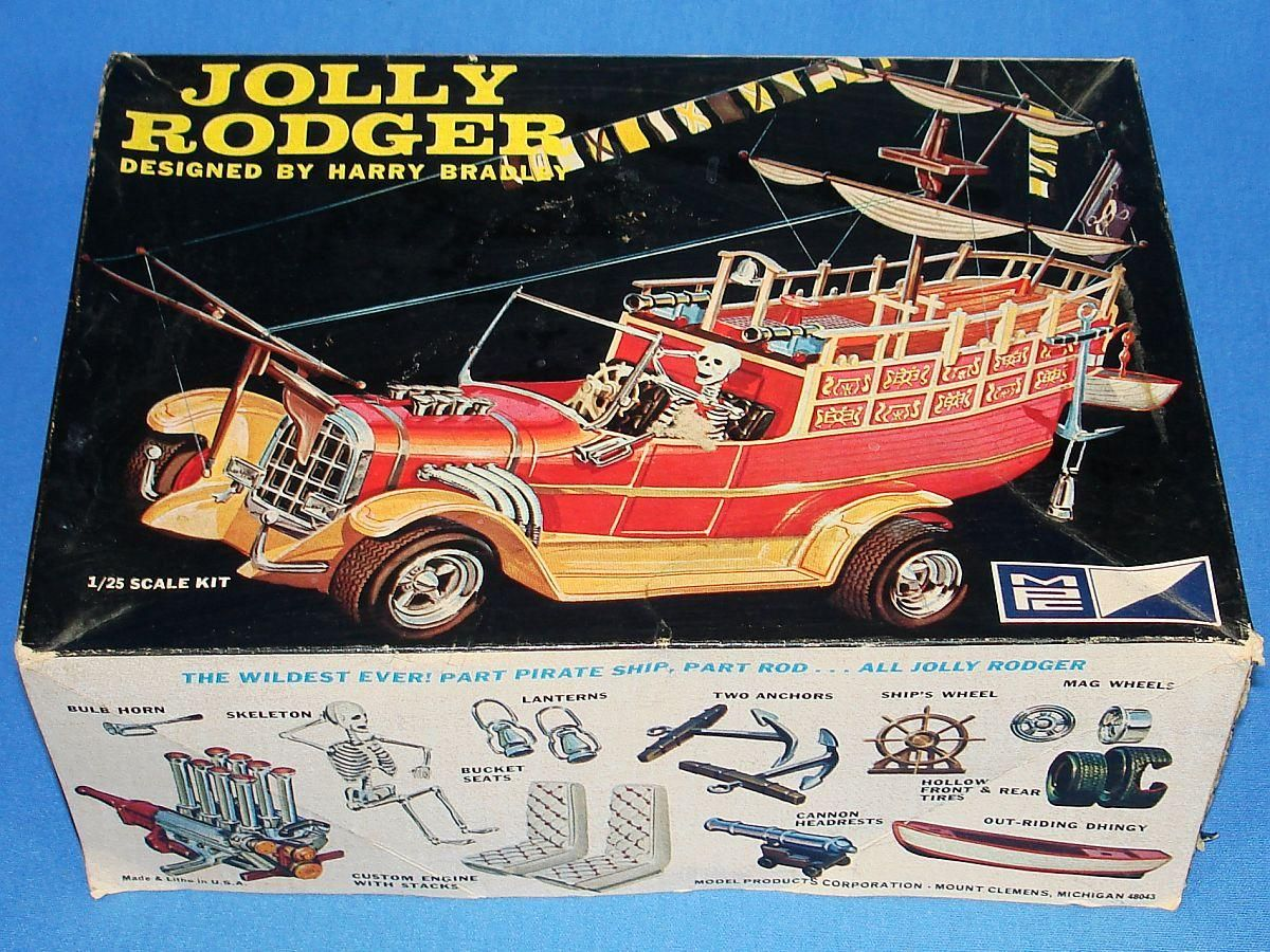 mpc jolly rodger pirate ship 125 scale plastic model car kit