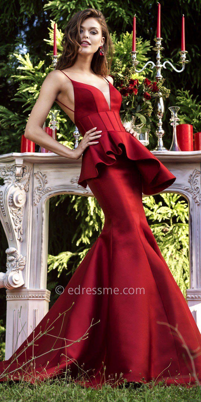 Begonia Evening Dress by Tarik Ediz