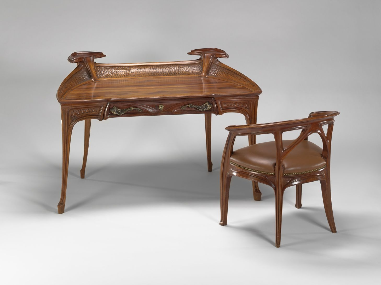 Rare original beech stained chair by eugene gaillard circa 1900 at - Vmfa Mahogany Desk And Chair By Jacques Gruber Desk And Chair Ca 1901 Jacques Gruber