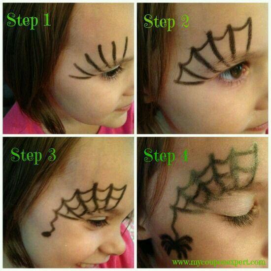 örümcek Yüz Boyama Yüz Boyama Halloween Face Painting Halloween