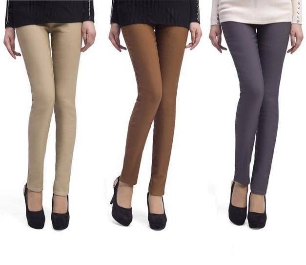 ba0dacdce9d70 Women's thick pants feet pencil jeans fwarm leggings tights boots Trousers  1010