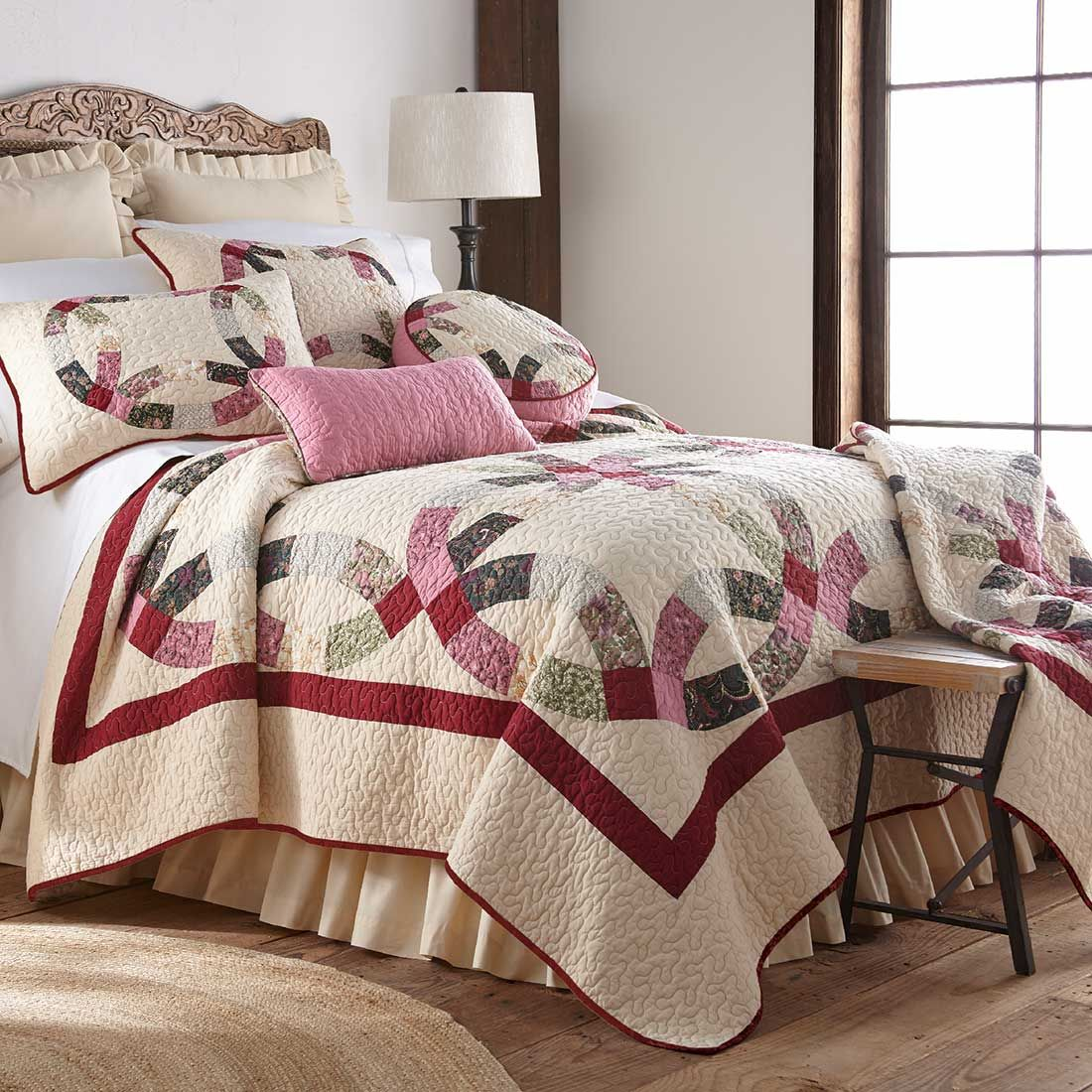 Deidre Wedding Ring Quilt King Cracker Barrel Contemporary Bed Cotton Quilt Set Cool Beds