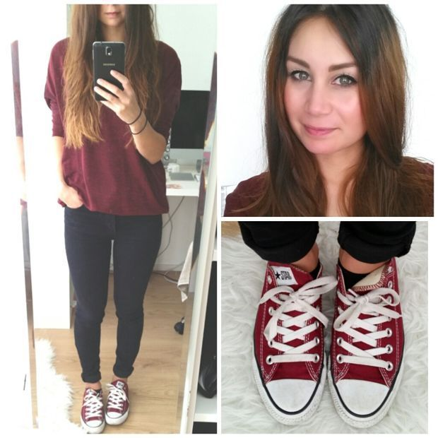 burgundy Converse | Outfits with