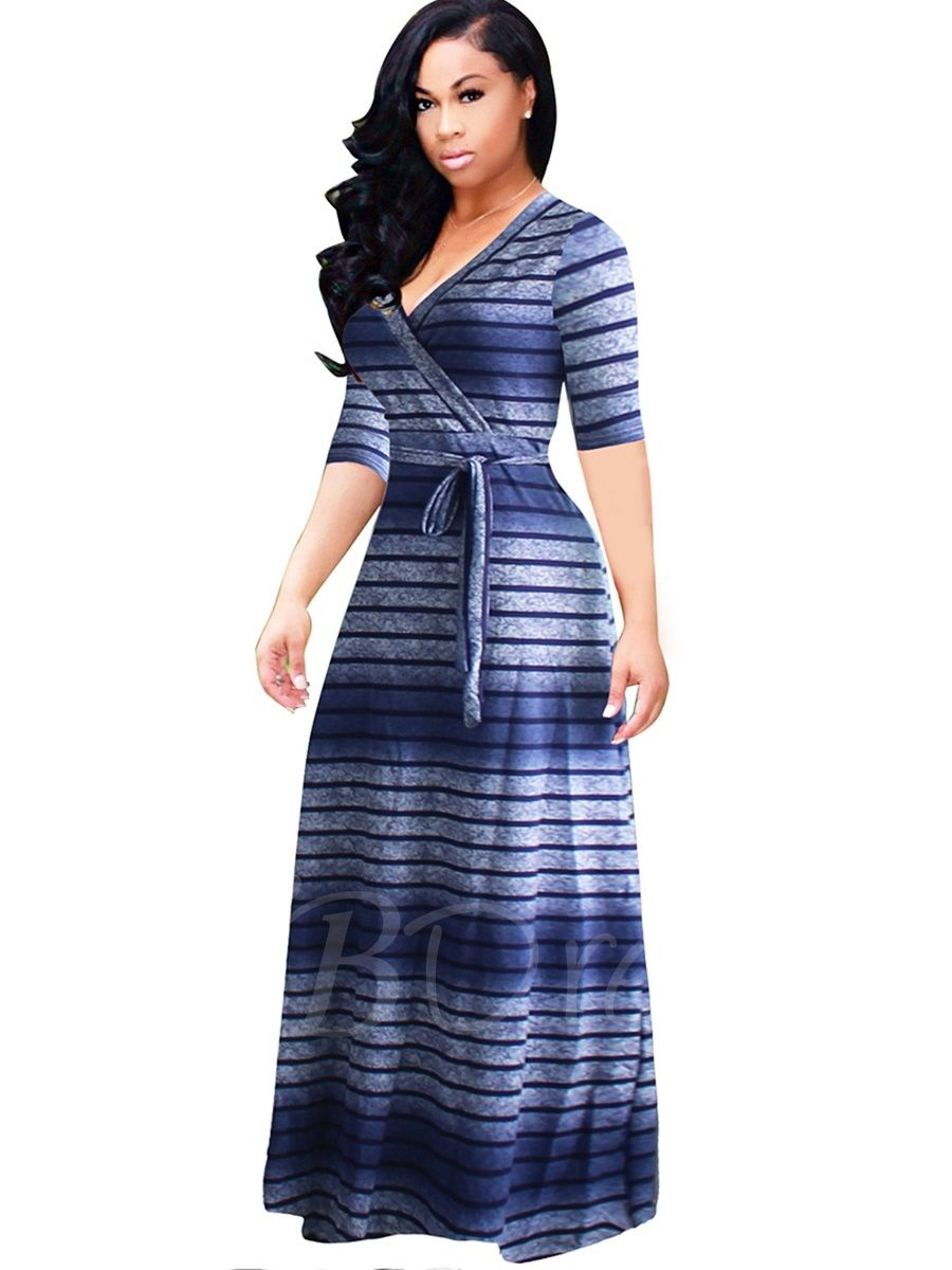 3928df9720f7 Tbdress.com offers high quality Blue Half Sleeve Plus Size Women s Maxi  Dress Maxi Dresses unit price of   21.99.