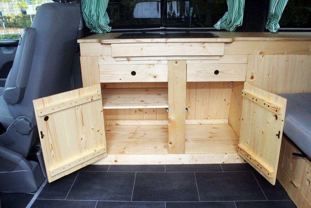 Camper Van Conversions Custom Build VW T5 Campervan Kitchen Unit