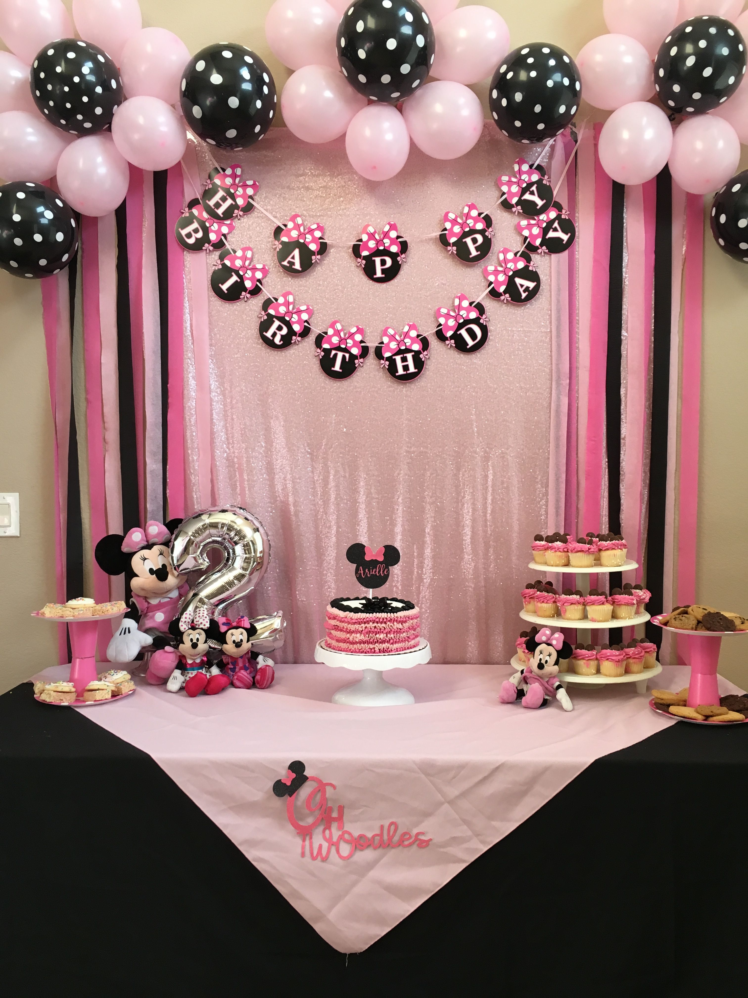 Mickey Mouse Minnie Mouse Birthday Party Ideas Photo 7 Of 21 Minnie Mouse Birthday Party Minnie Birthday Minnie Birthday Party