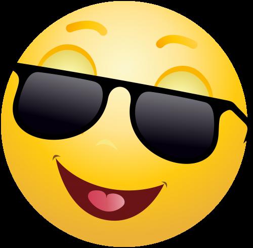 Smiling Emoticon With Sunglasses Png Clip Art Emoticon Emoji Emoji Faces