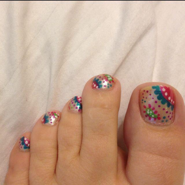 Paisley Nail Art: Paisley Design I Did On My Toes. Love It! Nail Art