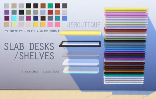 Sims 4 CC's - The Best: Slab Desks by JSBoutiqe