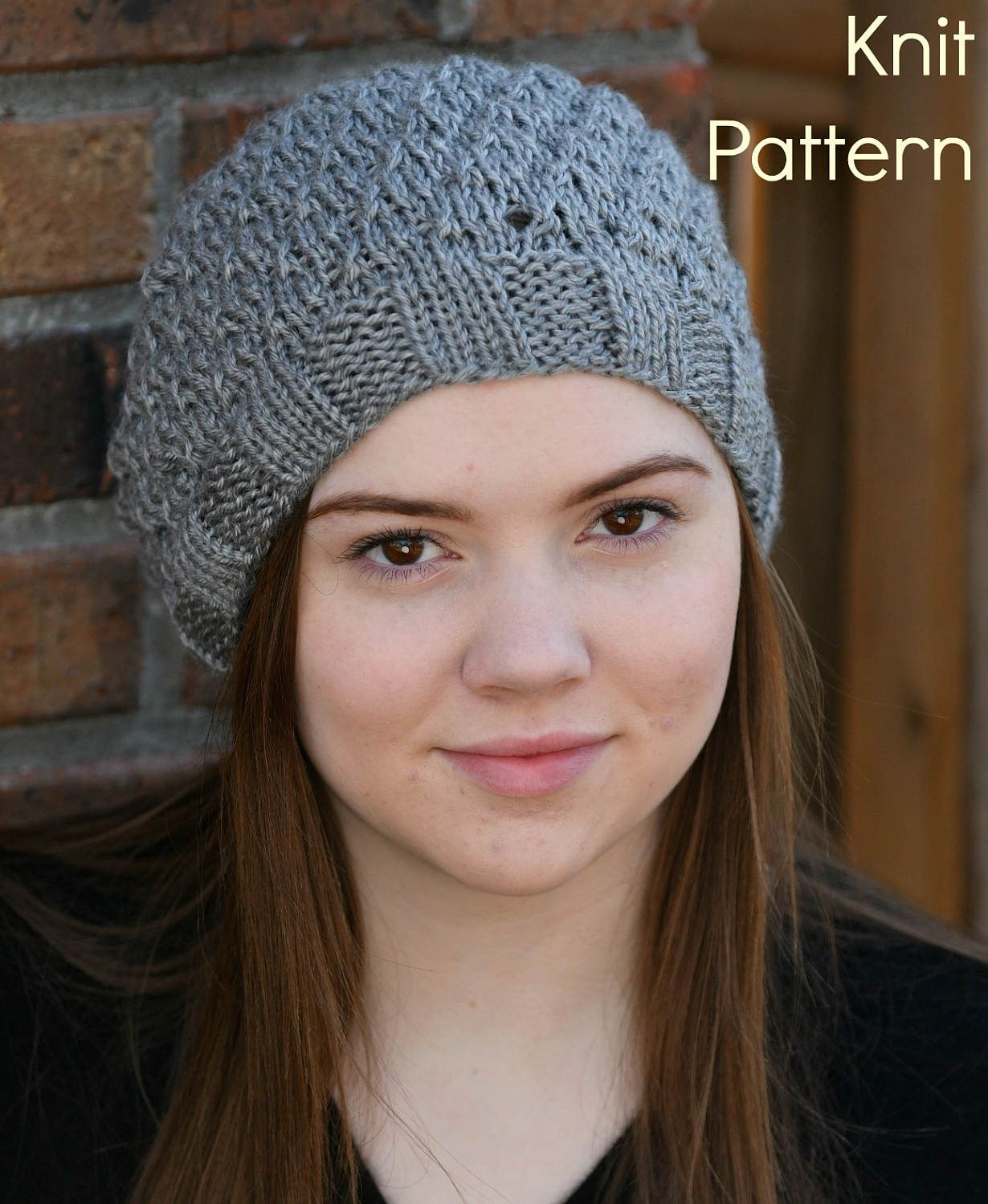 Ginger Beret Pattern - Knit Slouchy Beret Hat Pattern - Hand Knit Hat or  Cap by MainlyKnits on Etsy 2a0f6061b67