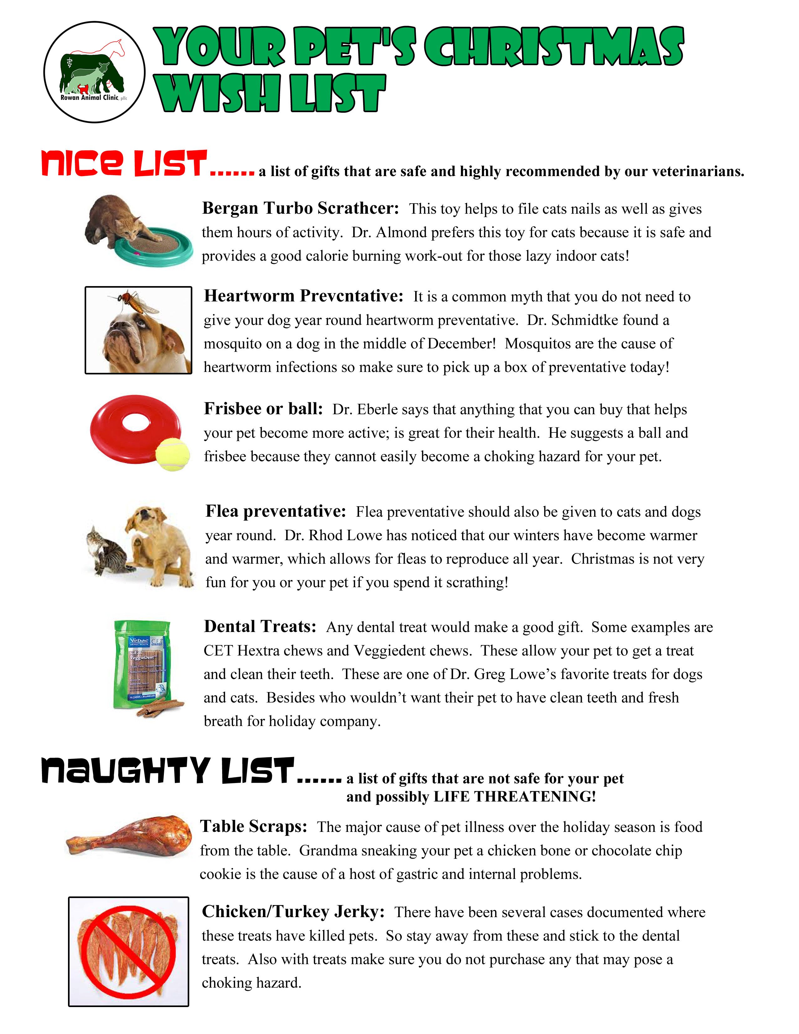 Naughty And Nice List For Your Pets Highly Recommended From Our Vets Safe Toys Your Pet Cat Nails