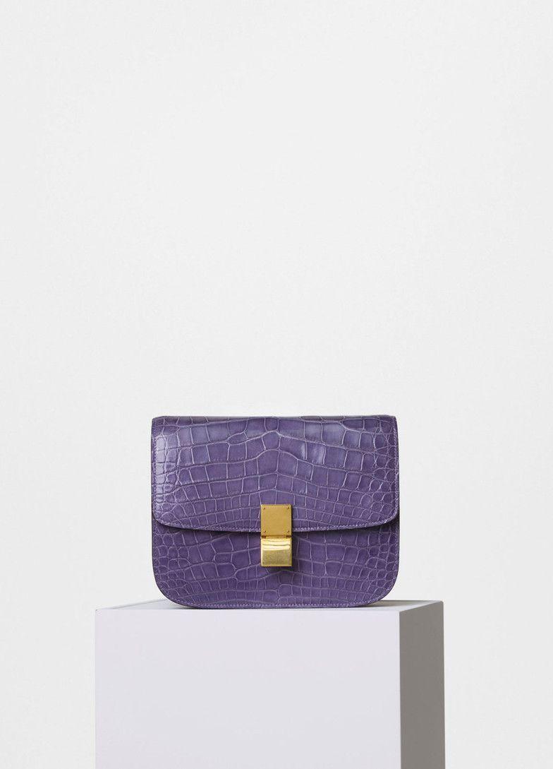 b642448f41 Medium Classic Bag in Crocodile - Céline Celine Classic Box