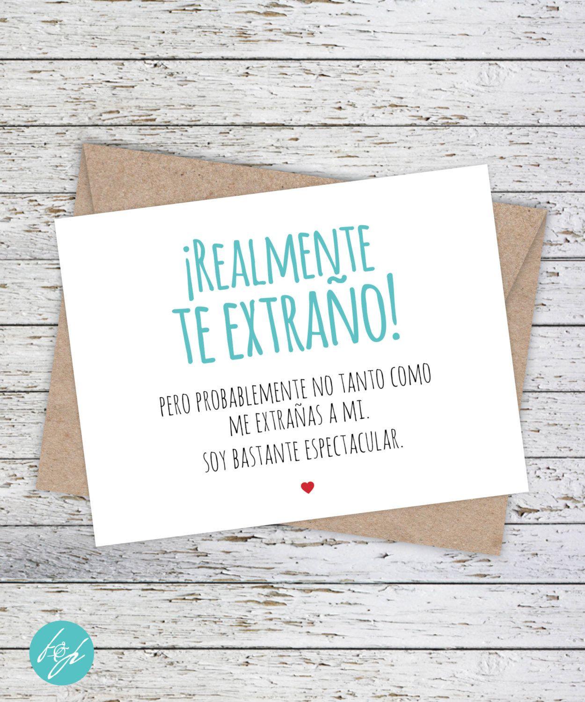Funny Spanish Card Tarjeta En Espaol Realmente The Extrao By