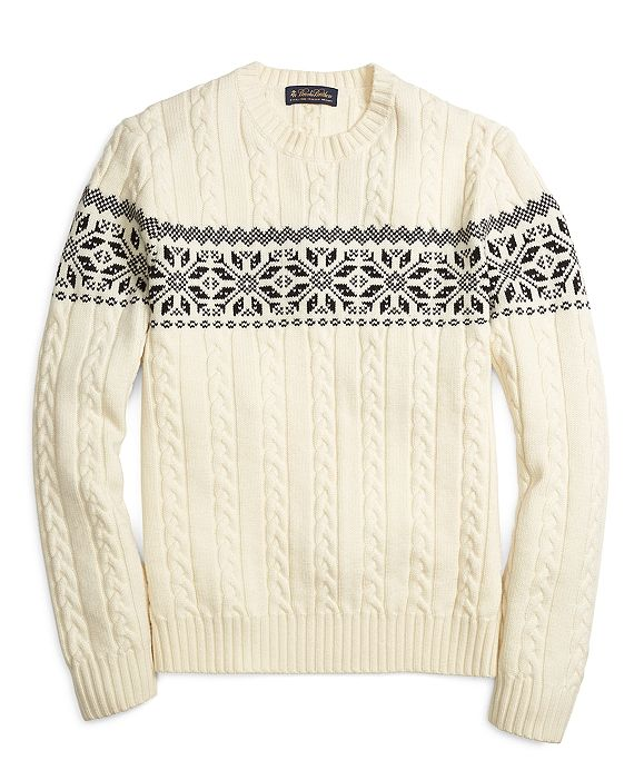 Fair Isle Knit Sweater // Brooks Brothers | S T Y L E | Pinterest ...