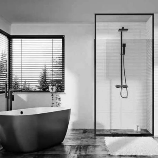 Orbit Noire Wet Room Panel Noireframe03 1000mm 8mm Clear In 2020 Wet Rooms Bath Shower Doors Glass Panels