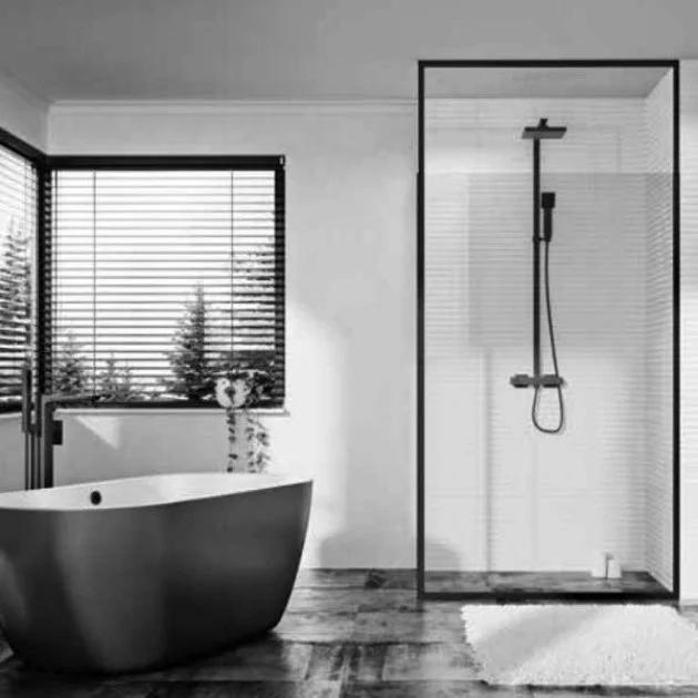 Orbit Noire Wet Room Panel Noireframe03 1000mm 8mm Clear In 2020 Wet Rooms Bath Shower Doors Glass Panels
