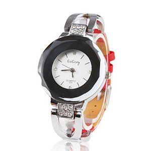 Tanboo Black PU Leather Band Women's Crystal Decorated Quartz Wrist Watch - Red by Tanboo. $8.99. Casual Watches. Wrist Watches. Women's Watche. Gender:Women'sMovement:QuartzDisplay:AnalogStyle:Wrist WatchesType:Casual WatchesBand Material:SteelBand Color:RedCase Diameter Approx (cm):3Case Thickness Approx (cm):0.9Band Length Approx (cm):20.5Band Width Approx (cm):1.3