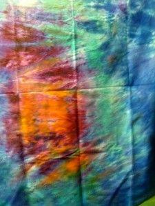Light source Fabric Soft orange, scarlet, aqua, and cerulean