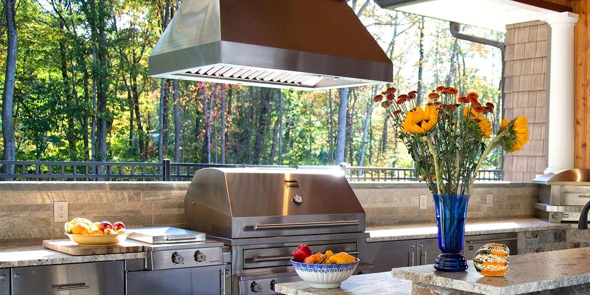 Outdoor vent hood outdoor cooking pinterest vent for Outdoor kitchen grill hood