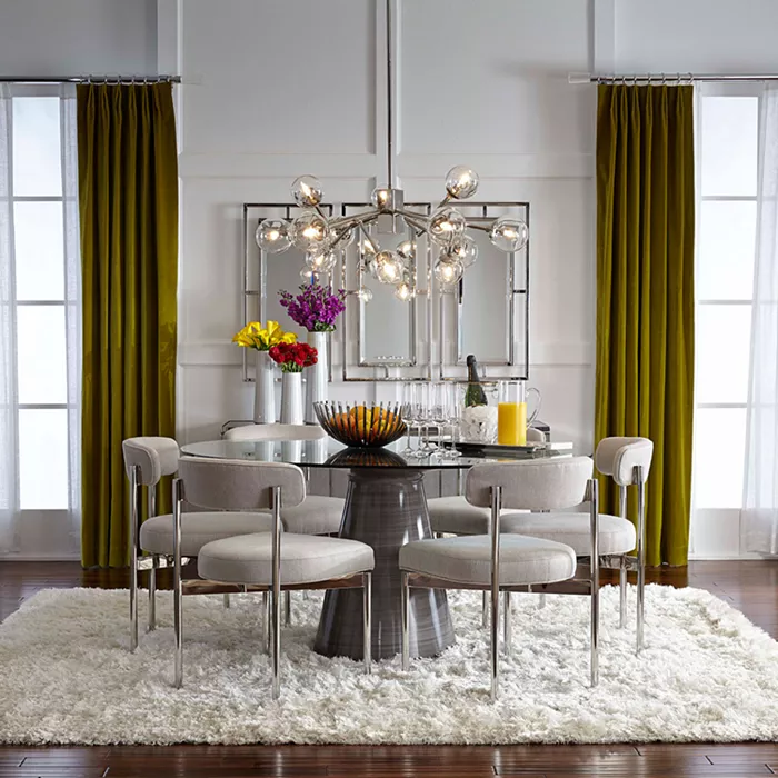 Contemporary Dining Room Furniture, 60 Round Glass Dining Room Table