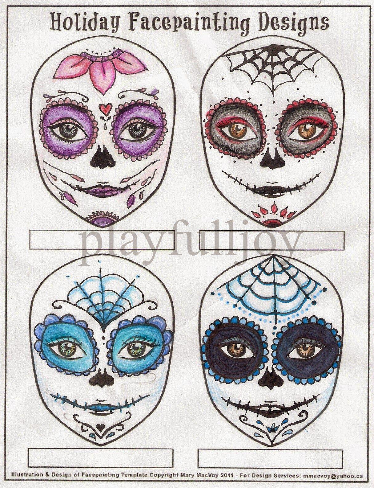 blank sugar skull template - Google Search | sugar skulls ...