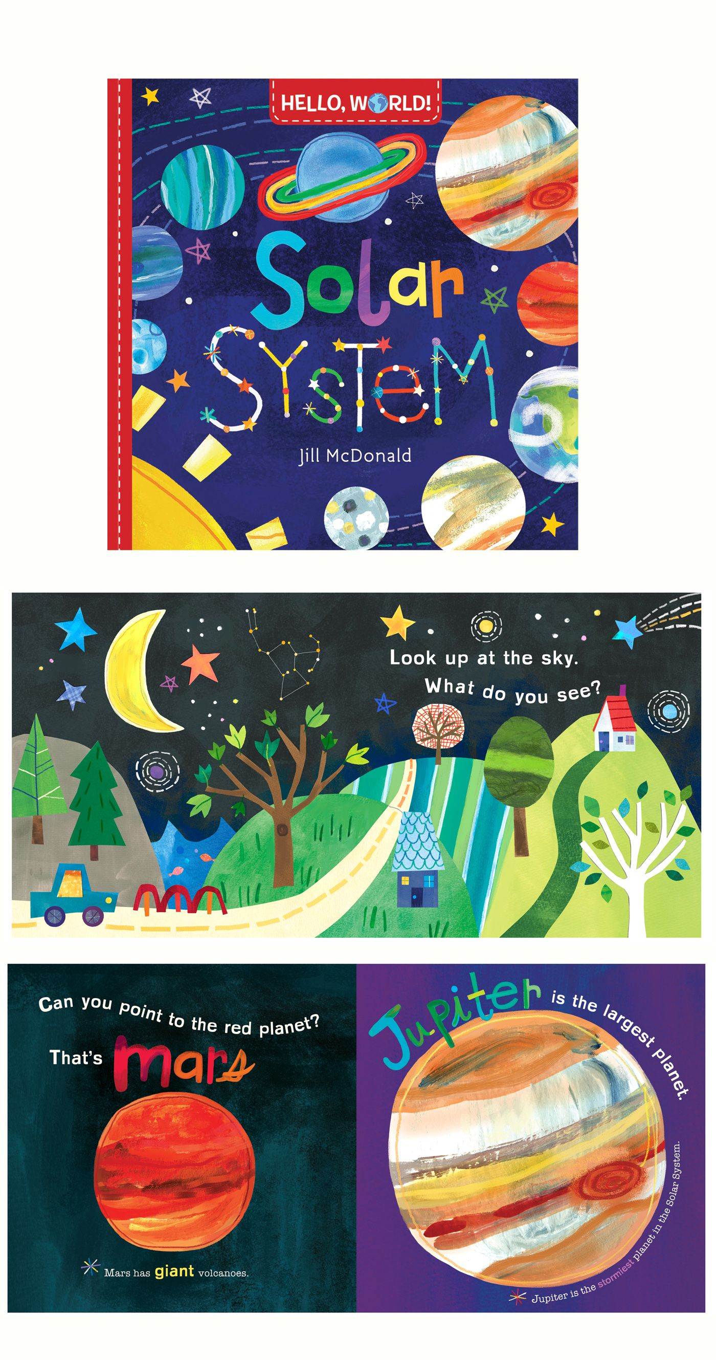 Solar System Board Book Part Of The Hello World Series By Jill