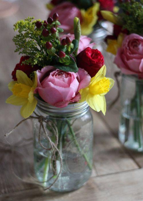 17 Apart: DIY Weddings: How To Make Hanging Mason Jar Flower Vases on pinterest tin can vases, pinterest crafts vases, fall mason jar vases,