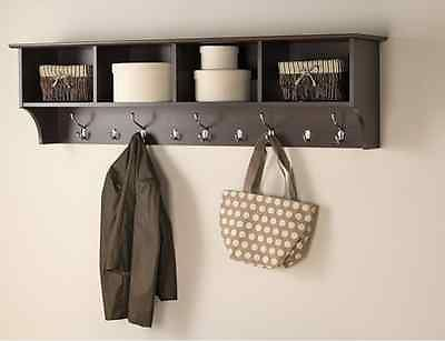 Mudroom Cubby Coat Rack Foyer Hanging Storage Entryway Shelf Storage Hanger | eBay