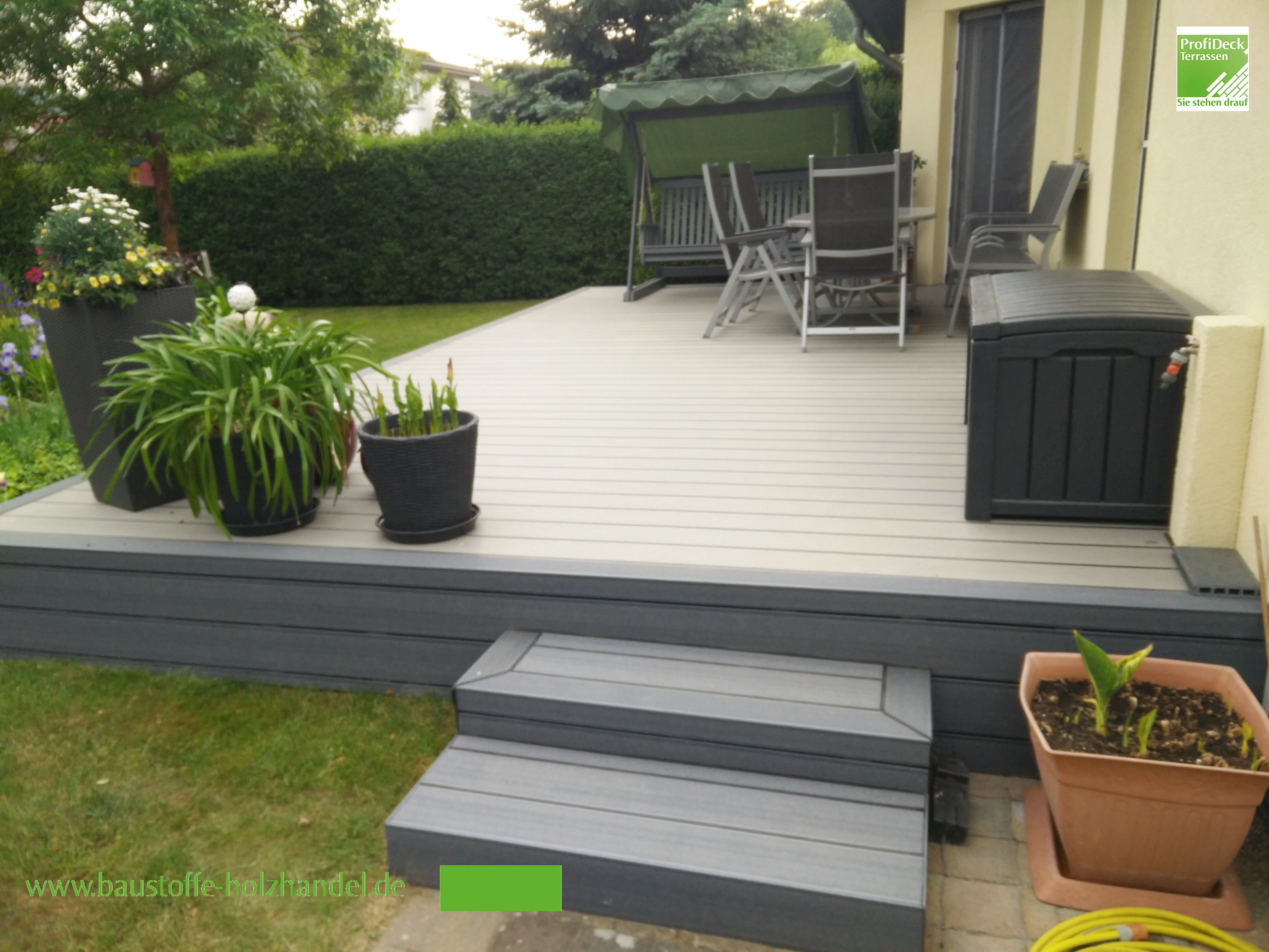Gartenterrassen Aus Upm Profi Design Deck 150 In Silbergrun Und Rand