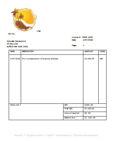 22 best Austrialian Tax Invoice Templates images on Pinterest - download word invoice template