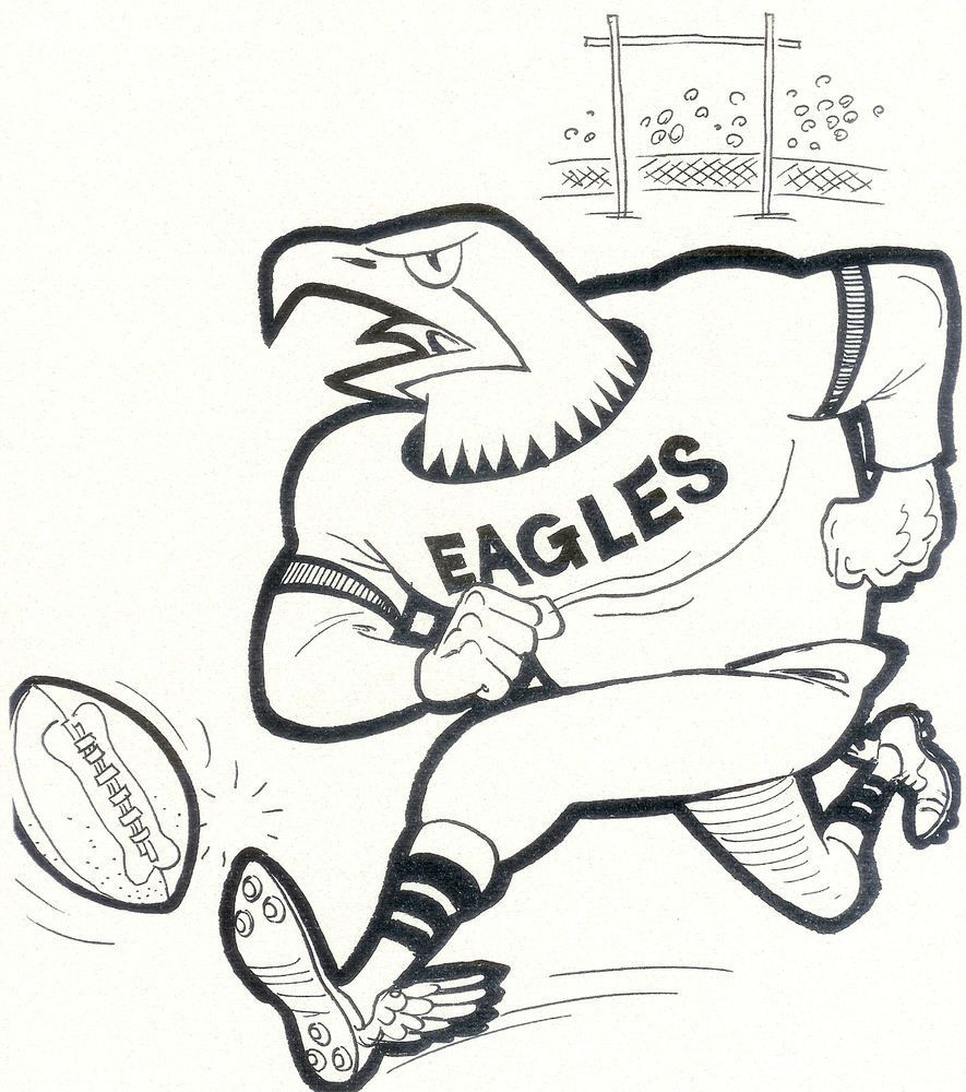 Pin By Get Highit On Coloring Pages Philadelphia Eagles Colors