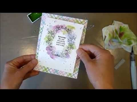 Unity Stamp Co Quick Tip - Messy Multicolor Watercolor - YouTube