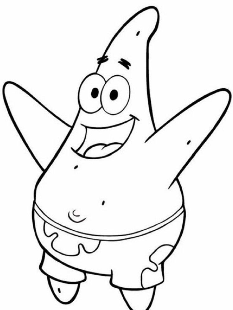 Patrick Star Colouring Pages Spongebob Drawings Star Coloring