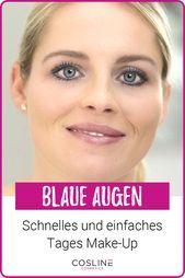 Photo of Blaue Augen mit einem einfachen und schnellen Tages Make-Up in Szene setzen!  In…