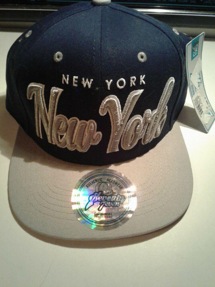 62ba2b9ef NWT NY SEVENTY SEVEN NEW YORK COLLECTOR EDITION BASEBALL CAP BLUE ...